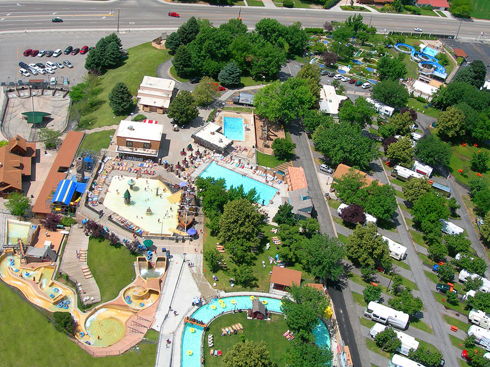 Aerial Photo - Cherry Hill Water Park, Family Fun Center & Camping Resort
