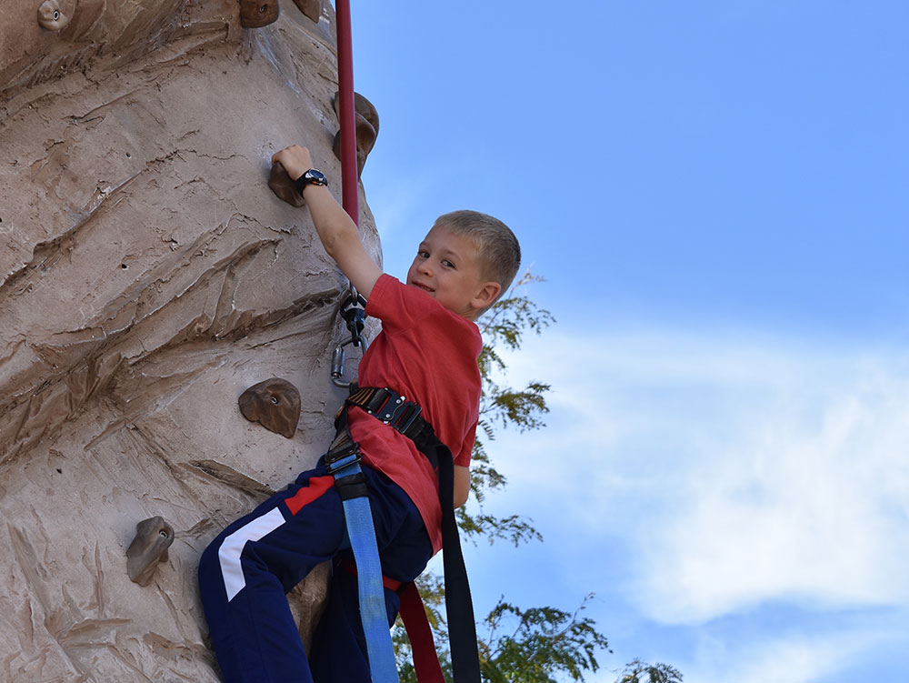 Rock Climber at Cherry Hill Water Park, Family Fun Center & Camping Resort