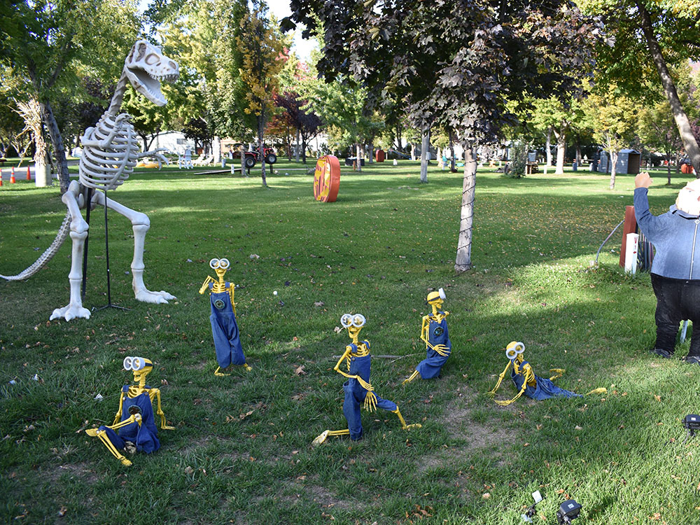 Scary Hill Skeleton Minions at Cherry Hill Water Park, Family Fun Center & Camping Resort