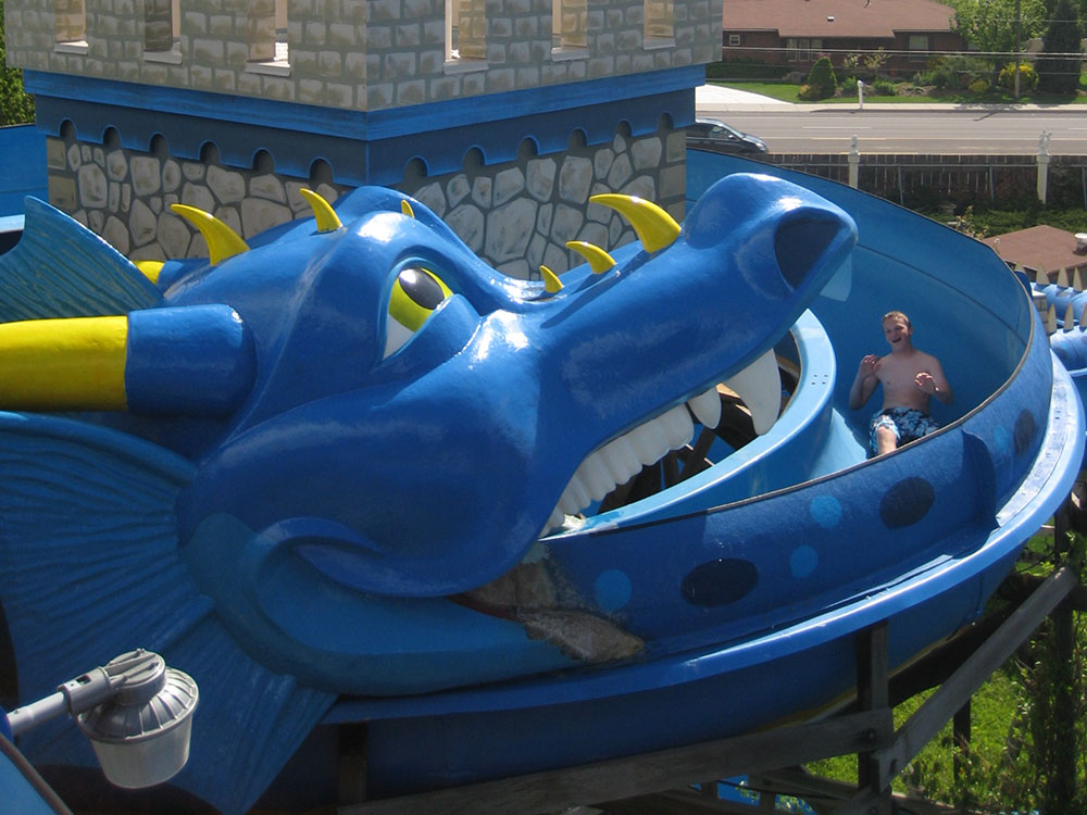 Double Dragons Water Slides at Cherry Hill Water Park, Family Fun Center & Camping Resort