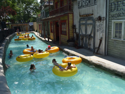 Grant's Gulch Lazy River at Cherry Hill Water Park, Family Fun Center & Camping Resort