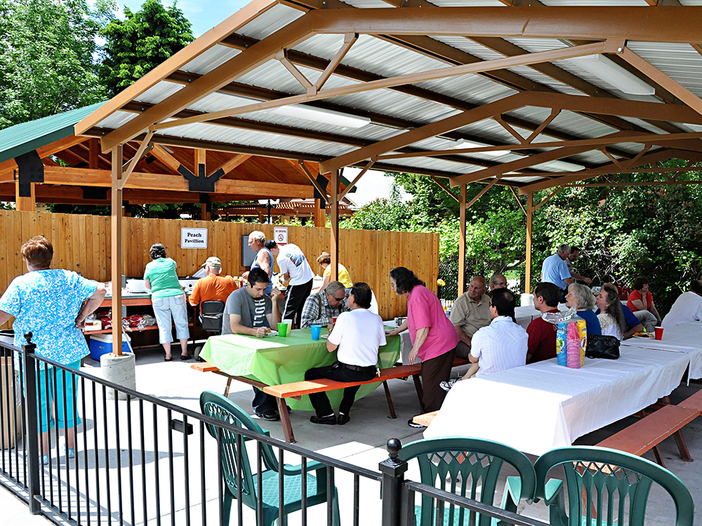 Picnic Pavilion at Cherry Hill Water Park, Family Fun Center & Camping Resort