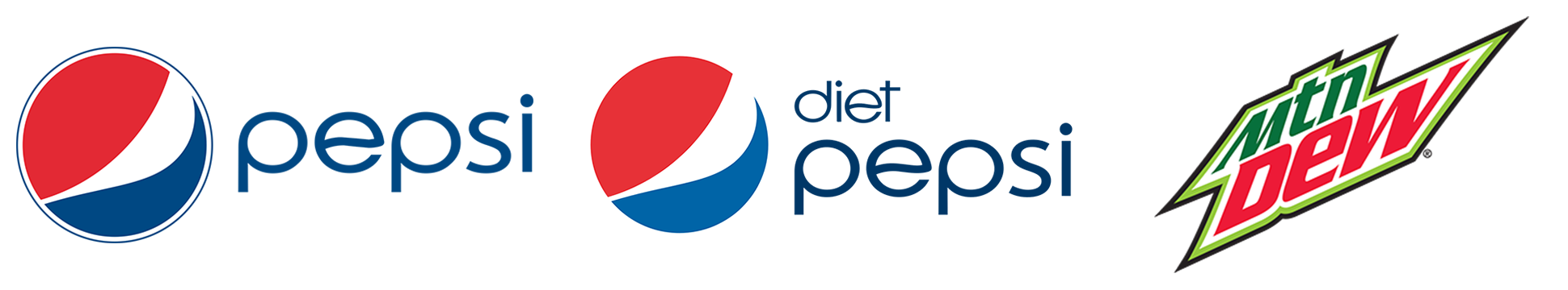 Drinks Logos — Pepsi | Diet Pepsi | Mountain Dew