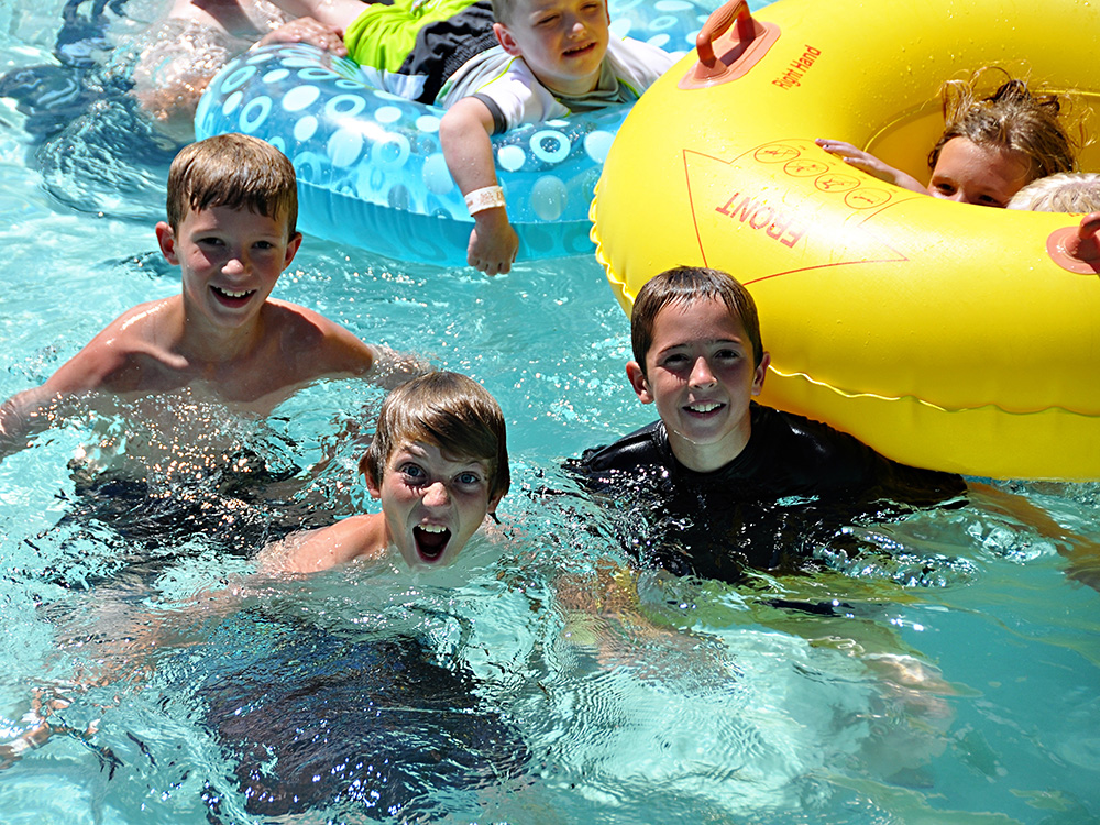 Lazy River Kids at Cherry Hill Water Park, Family Fun Center & Camping Resort