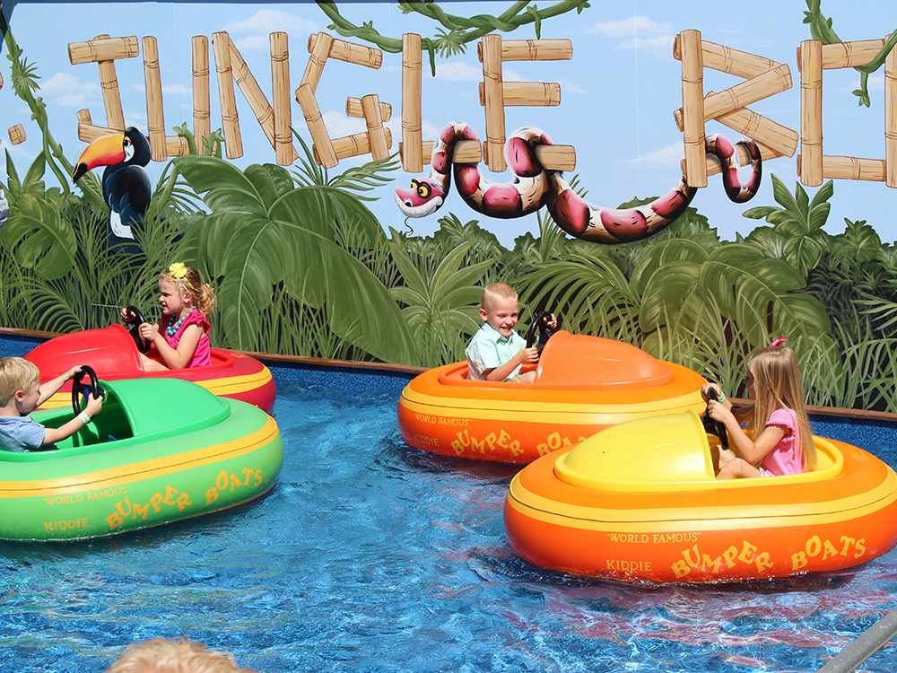 Junior Jungle Boats at Cherry Hill Water Park, Family Fun Center & Camping Resort